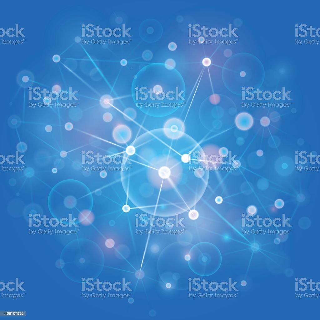 Computer network vector background vector art illustration