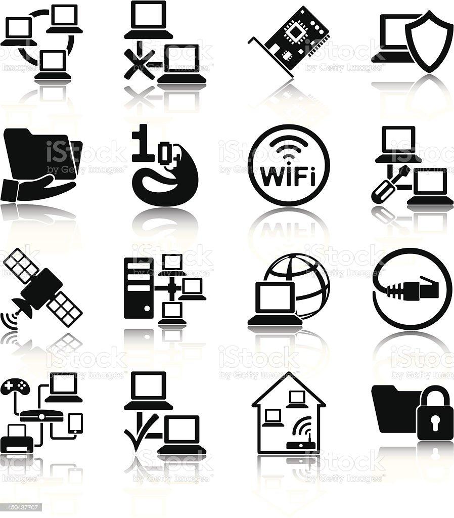 Computer network vector art illustration
