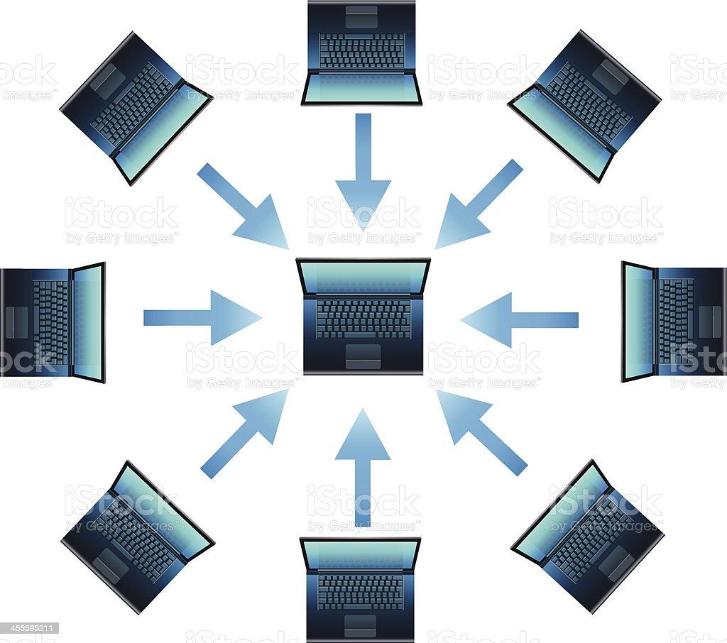Computer Network royalty-free stock vector art