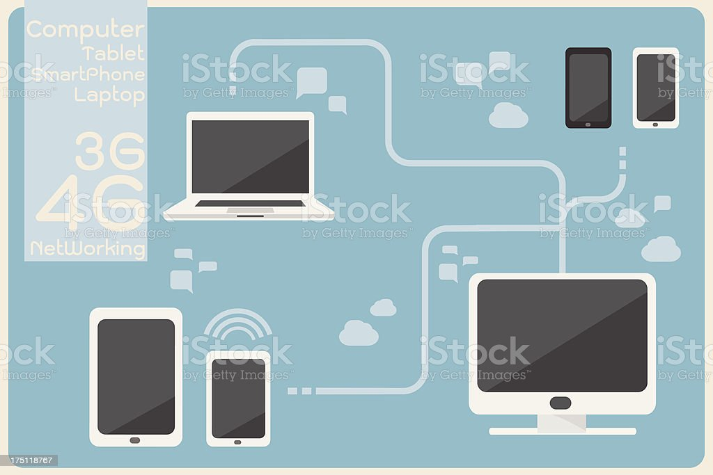 computer networking royalty-free stock vector art