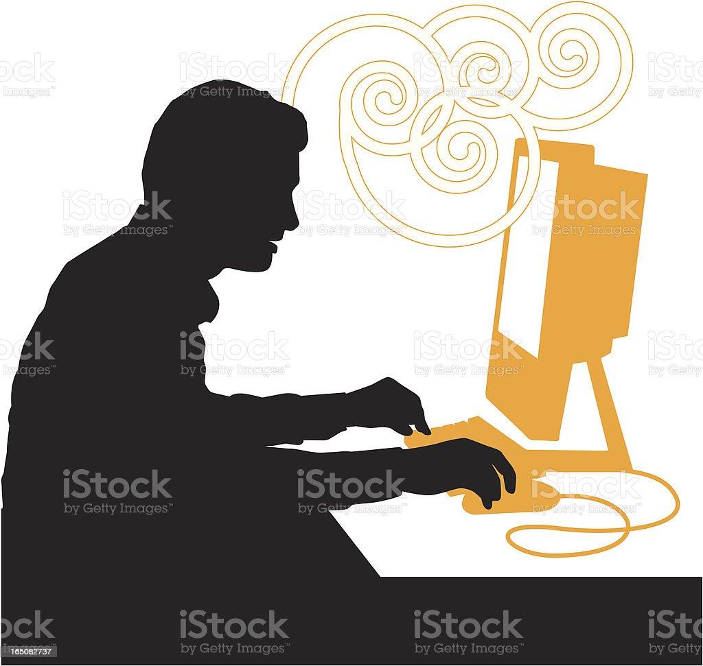computer operator royalty-free stock vector art