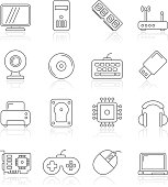 Computer parts and accessories icons