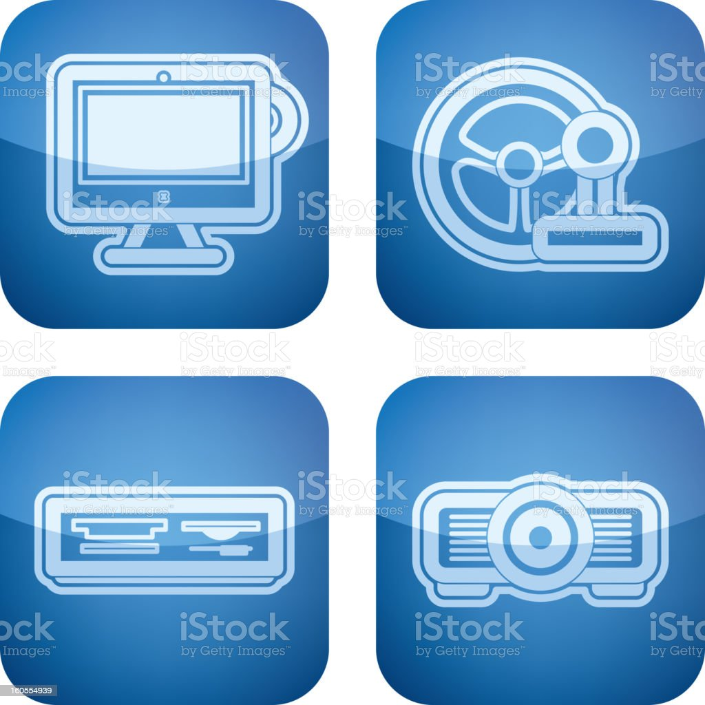 Computer parts royalty-free stock vector art