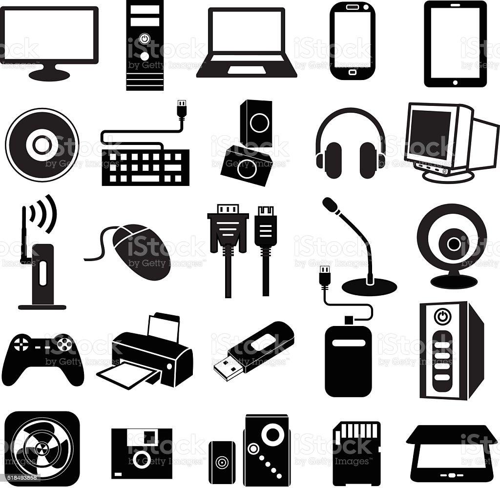 computer peripheral icon vector art illustration