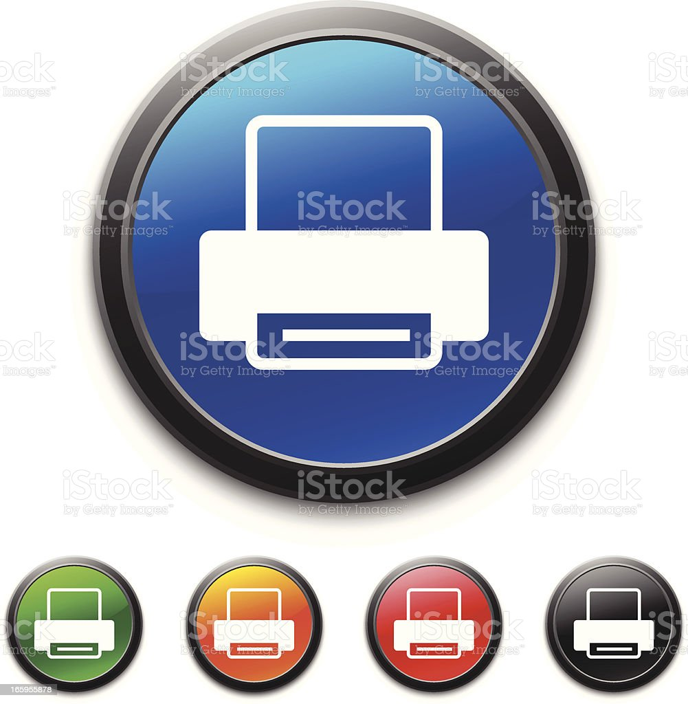 Computer Printer icon royalty-free stock vector art