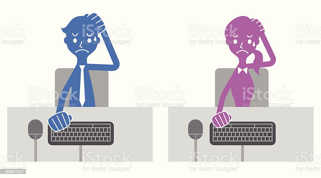 Computer problems royalty-free stock vector art