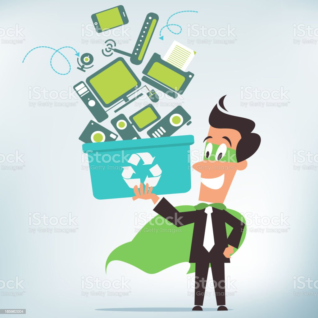 Computer Recycling vector art illustration