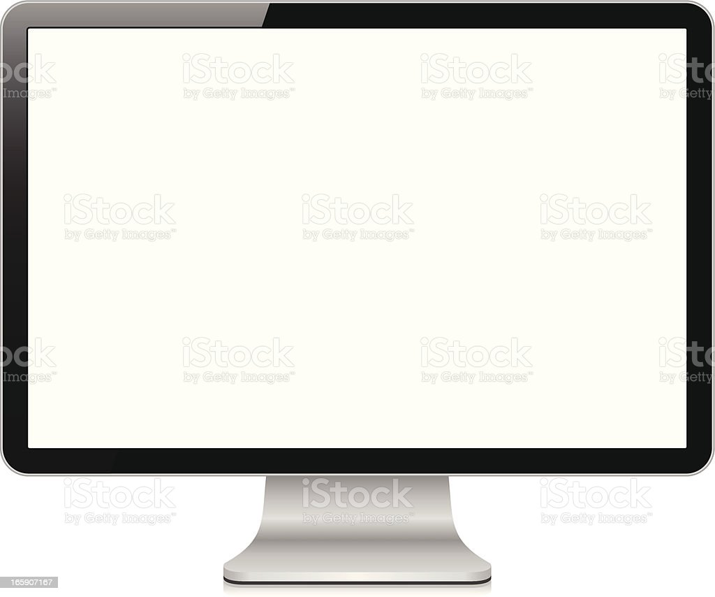 Computer screen vector art illustration