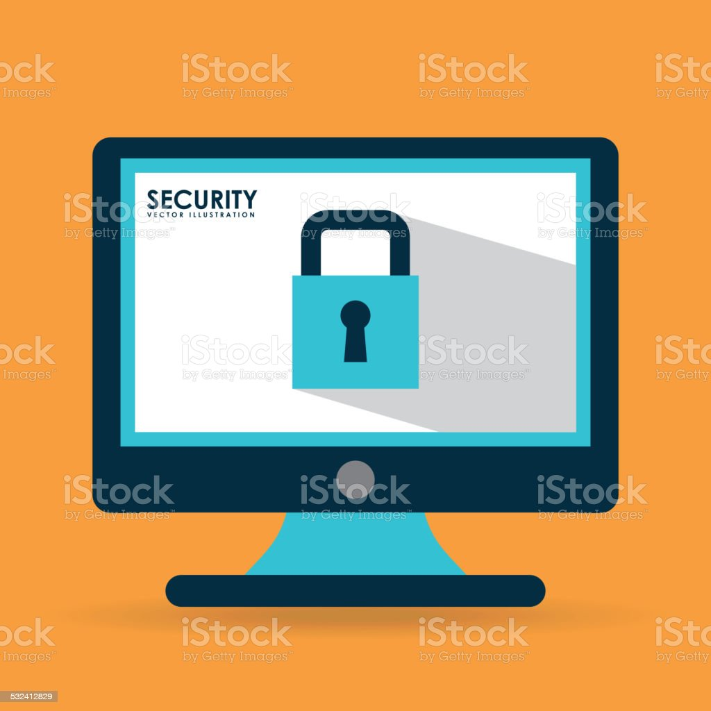computer security vector art illustration
