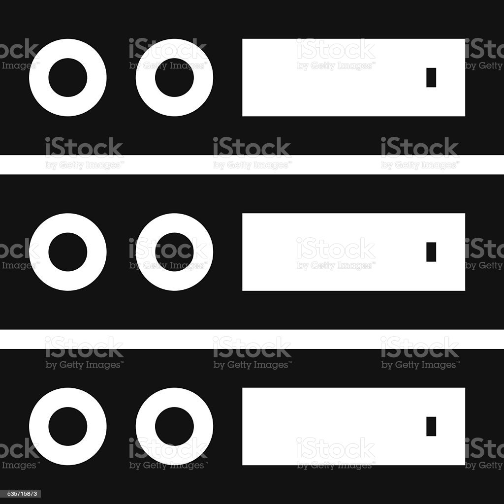 Computer Server icon vector art illustration
