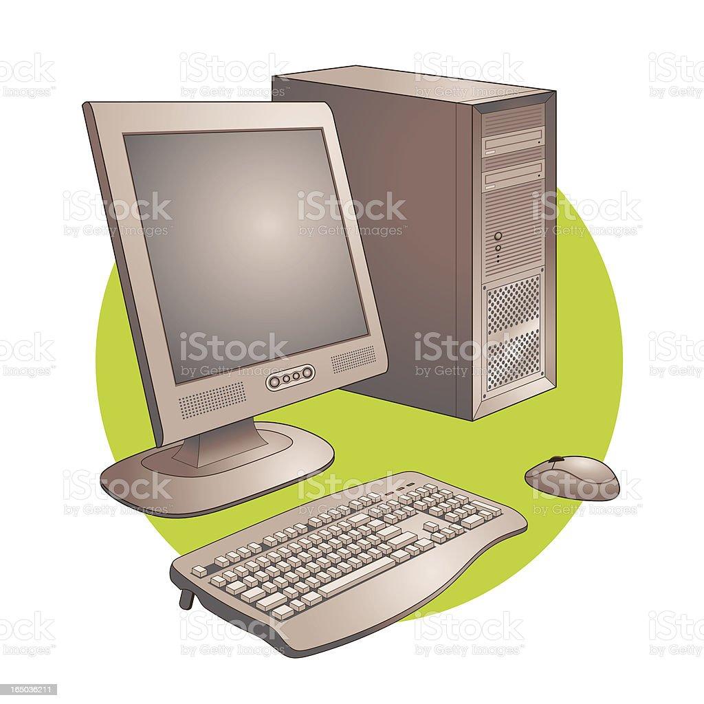Computer Set royalty-free stock vector art