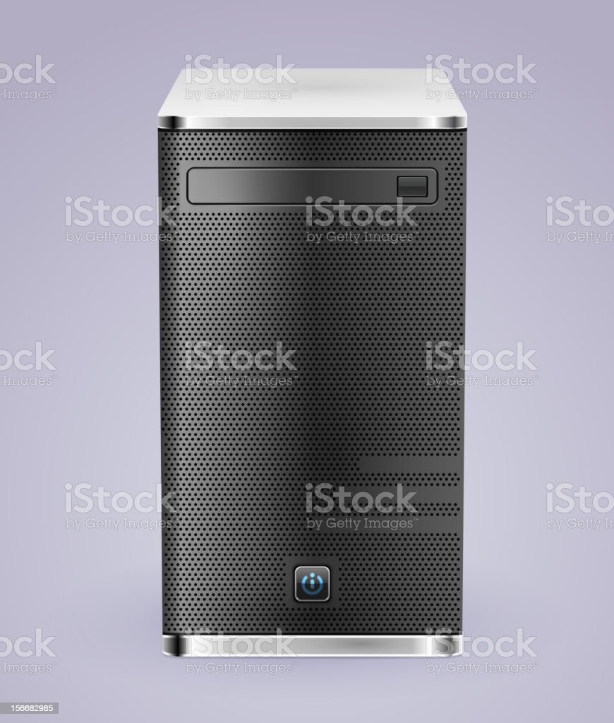 computer system unit icon on a gray background royalty-free stock vector art