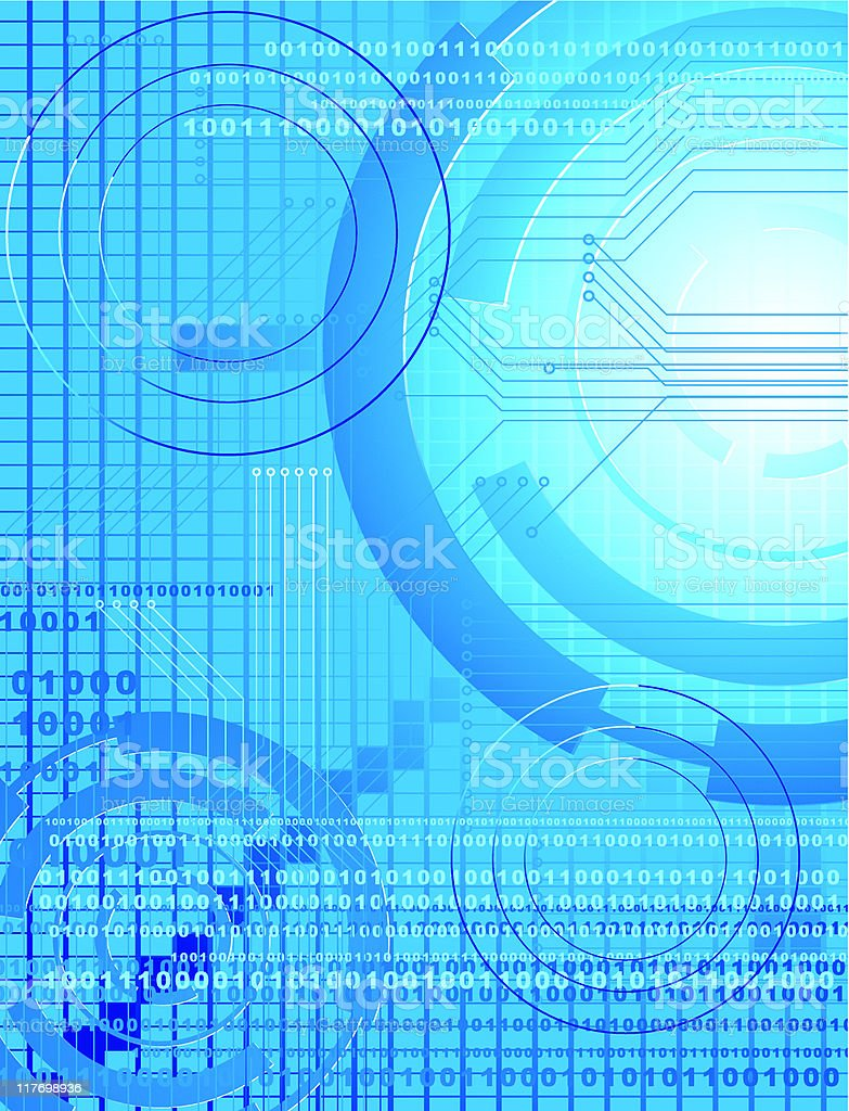 Computer Technology Background royalty-free stock vector art