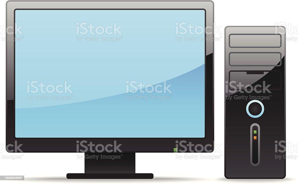 Computer vector art illustration