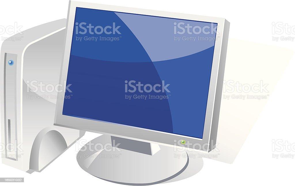 Computer - Vista Style Icon royalty-free stock vector art