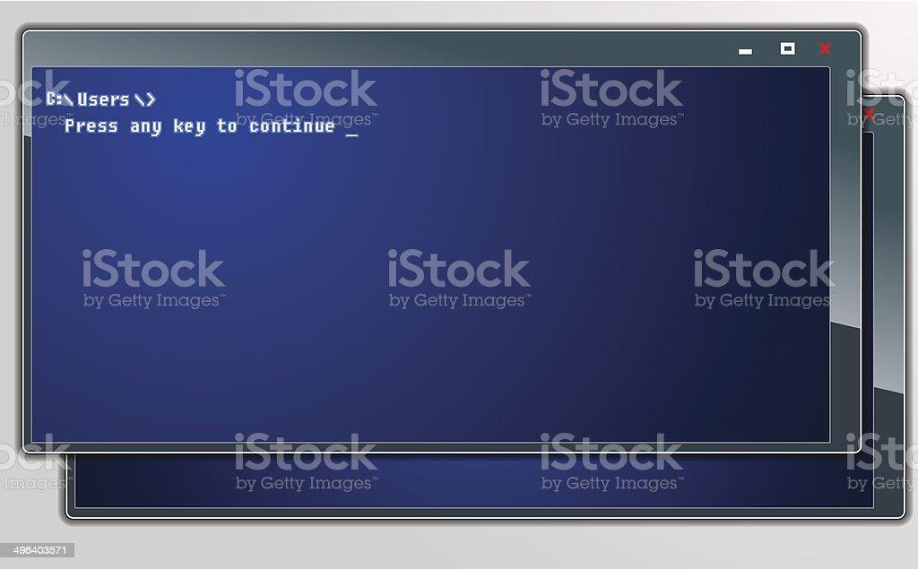 Ordinateur-fenêtres stock vecteur libres de droits libre de droits