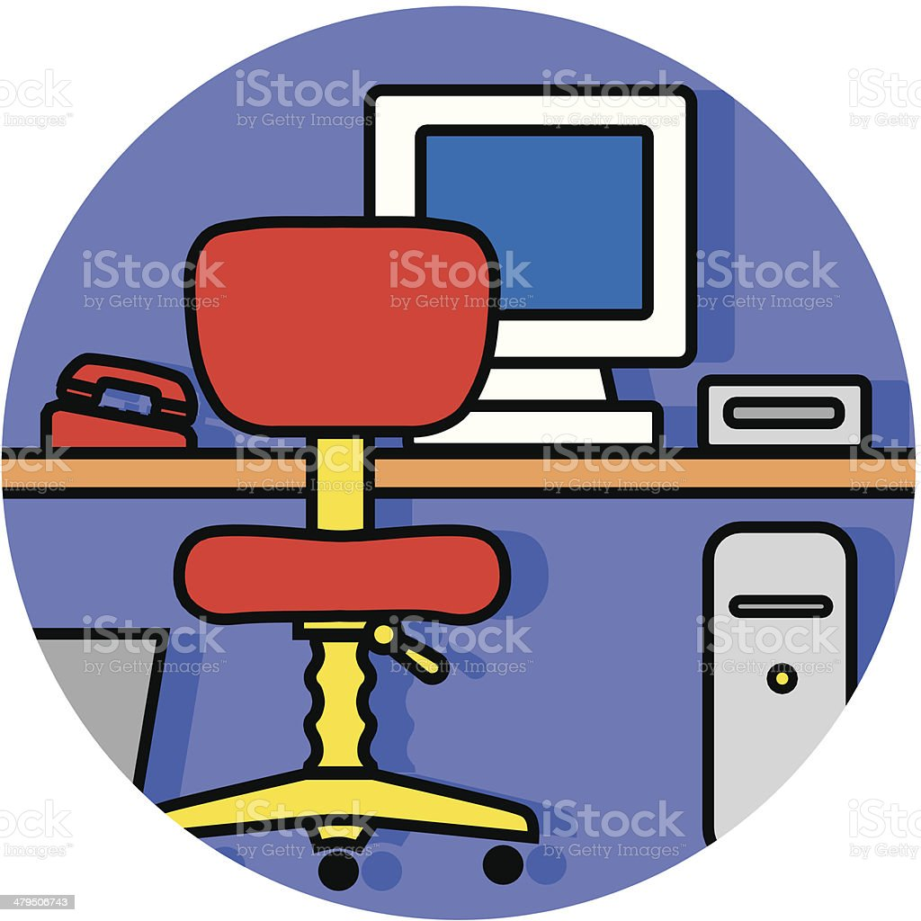 computer workstation icon royalty-free stock vector art