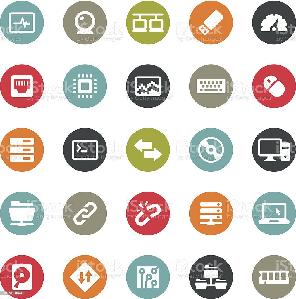 Computers icons / Ringico series vector art illustration