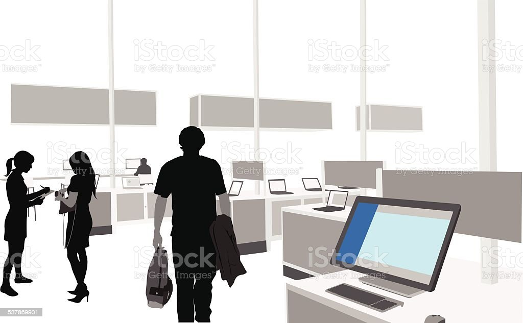 ComputerStore vector art illustration