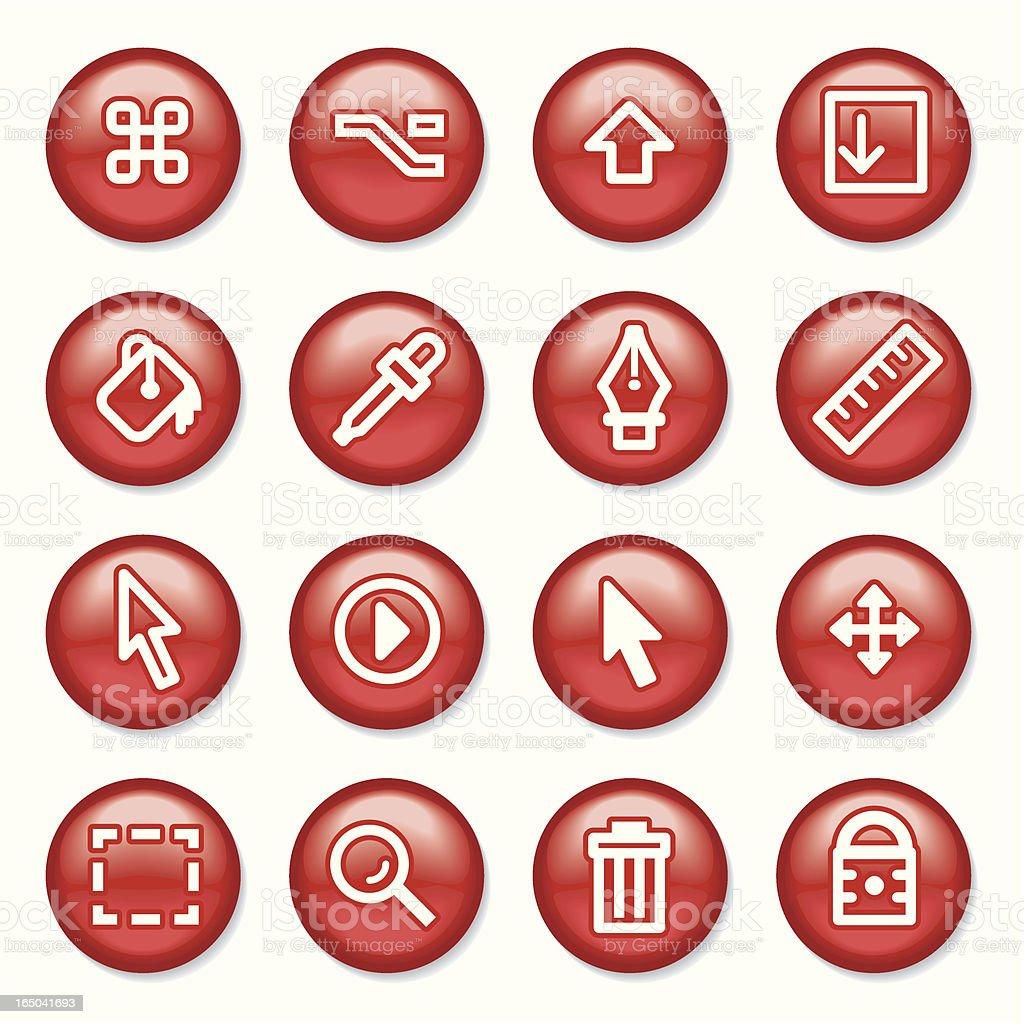 Computicon Buttons vector art illustration