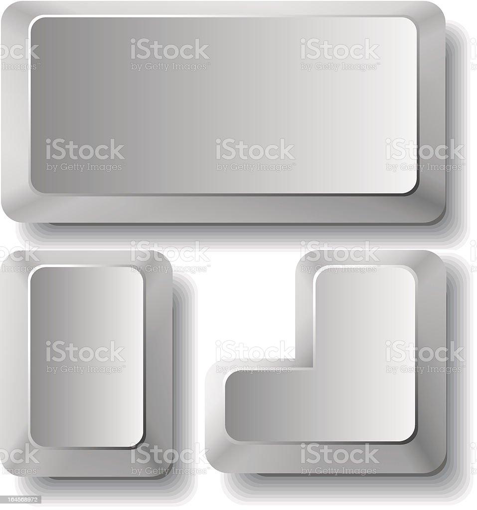 computr keys vector art illustration