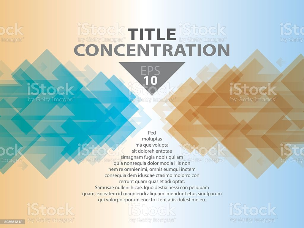 concentration vector art illustration