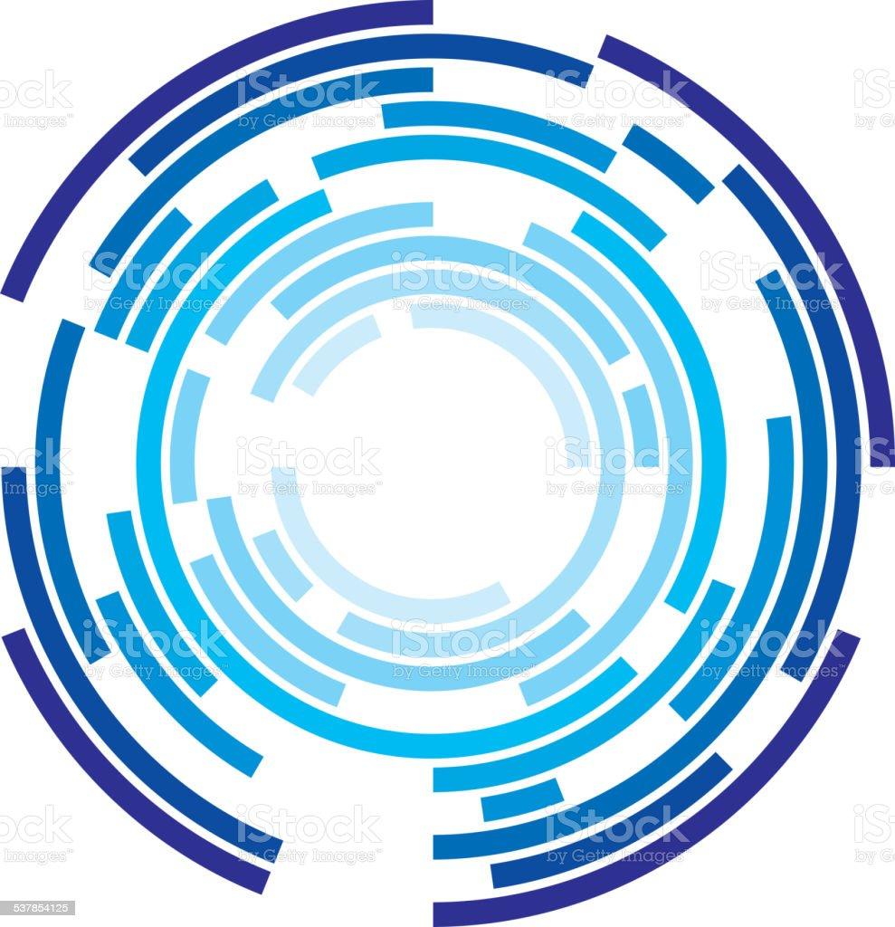 Concentric circles vector art illustration