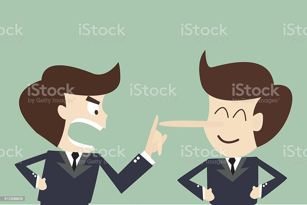 concept business lying vector art illustration