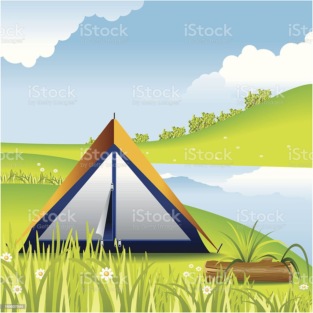 Concept, Camping royalty-free stock vector art