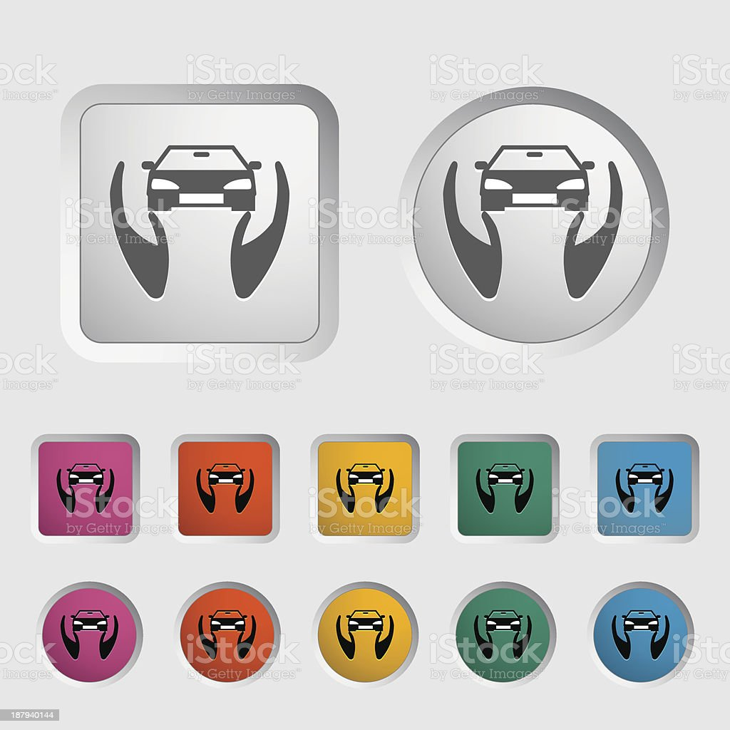 Concept car insurance. vector art illustration