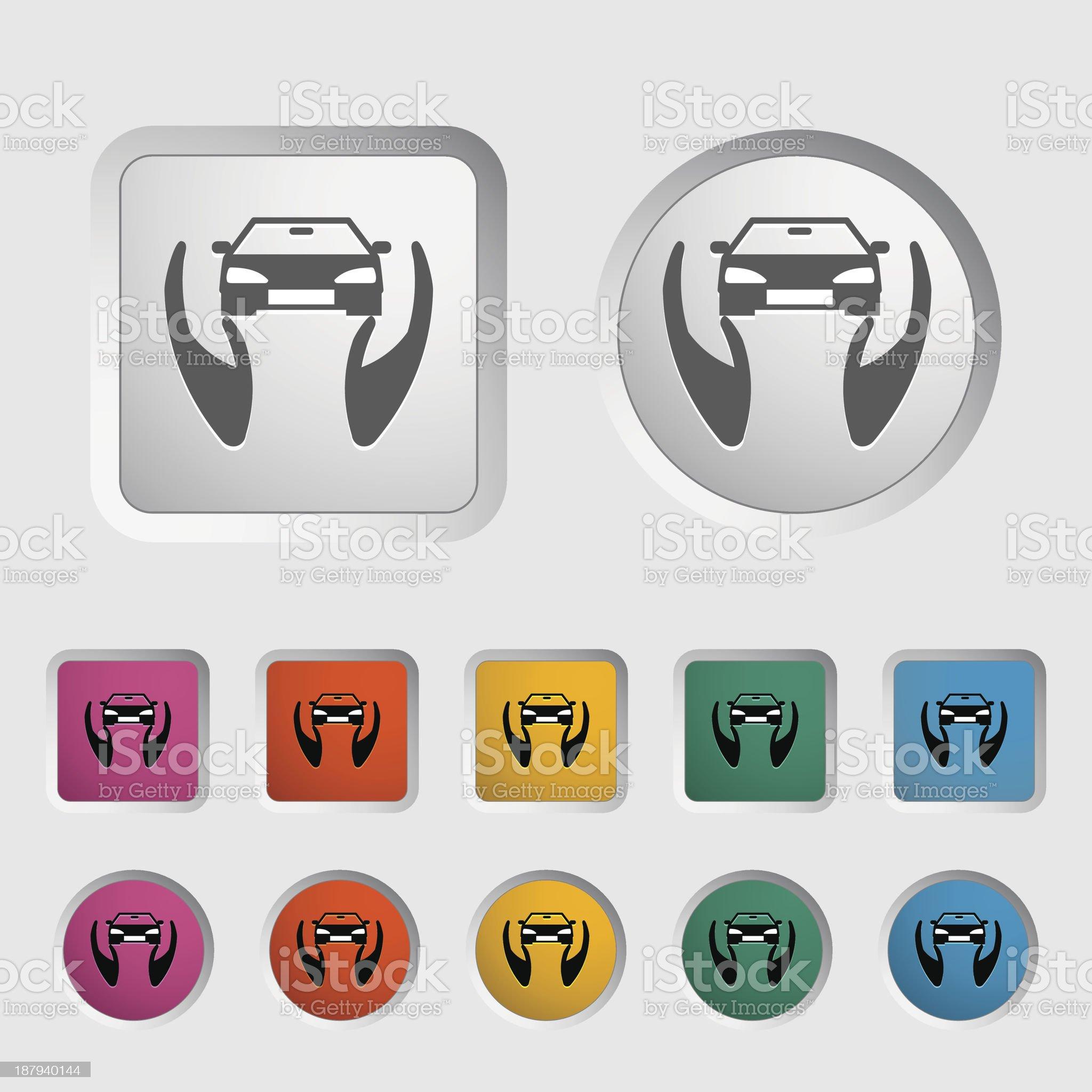 Concept car insurance. royalty-free stock vector art