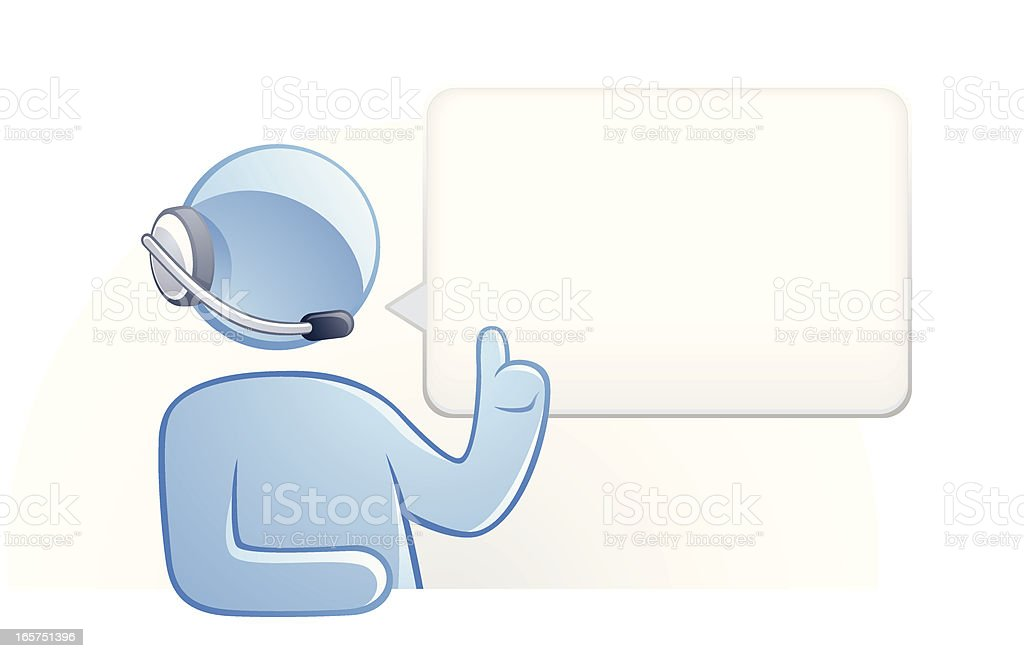 Concept Characters Symbolizing Help Desk, Technical Support, Lecture vector art illustration