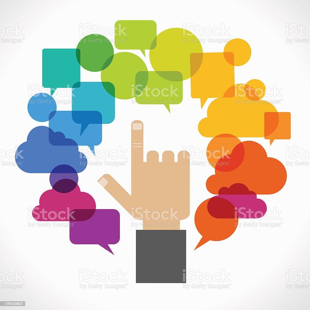 Concept design communication vector art illustration
