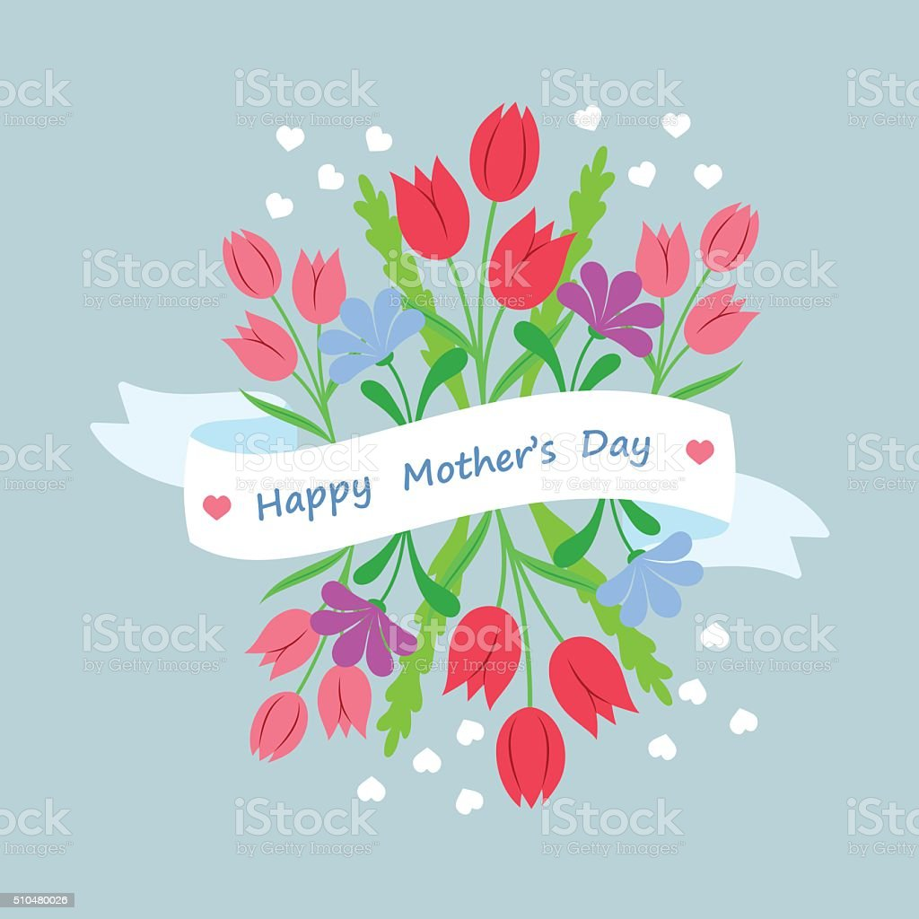 Concept design template greeting card Mothers Day vector art illustration