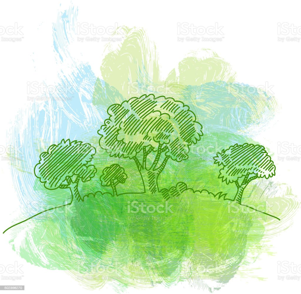 ECO Concept Drawing vector art illustration
