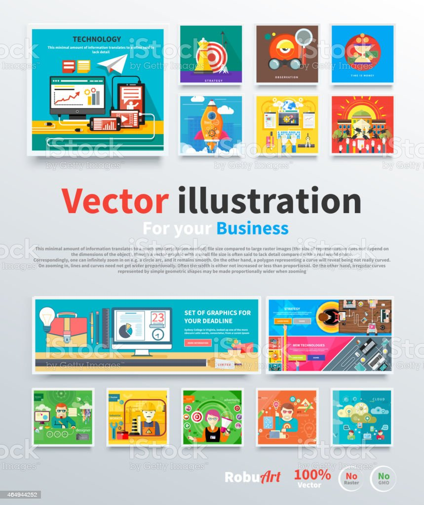 Concept for business strategy and mission vector art illustration