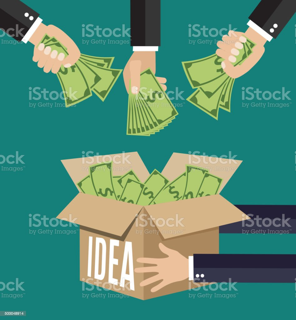 concept for crowdfunding, vector art illustration