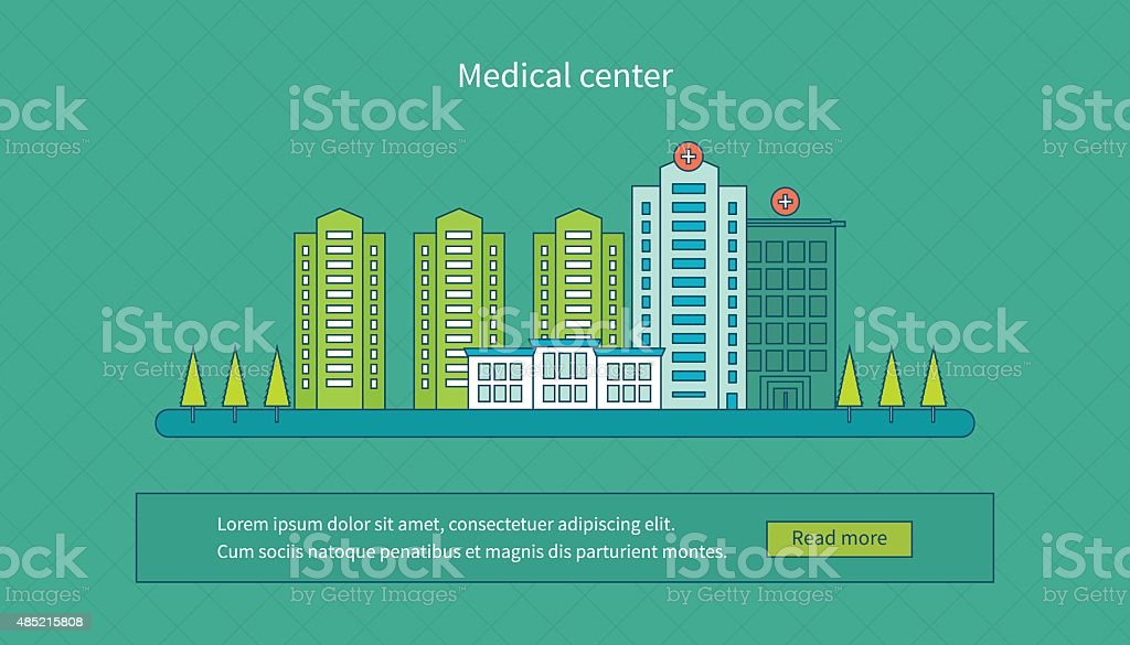 concept for healthcare vector art illustration