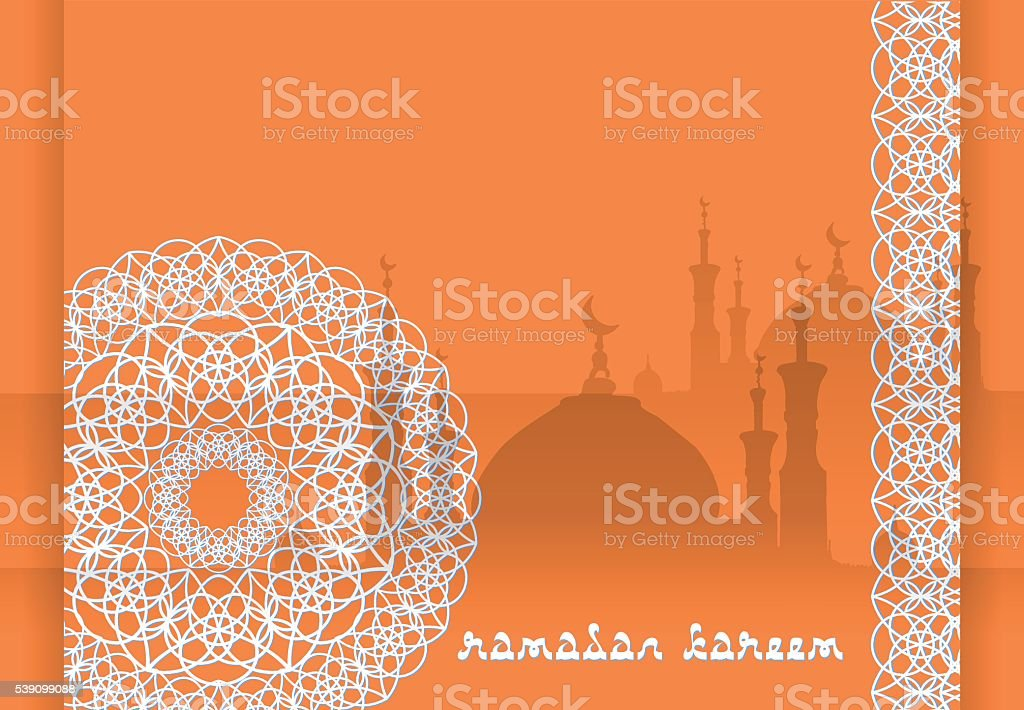 Concept for Islamic Muslim holiday vector art illustration