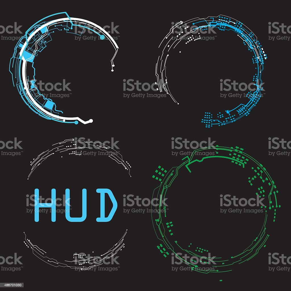 concept futuristic virtual graphic touch user interface HUD. vector art illustration