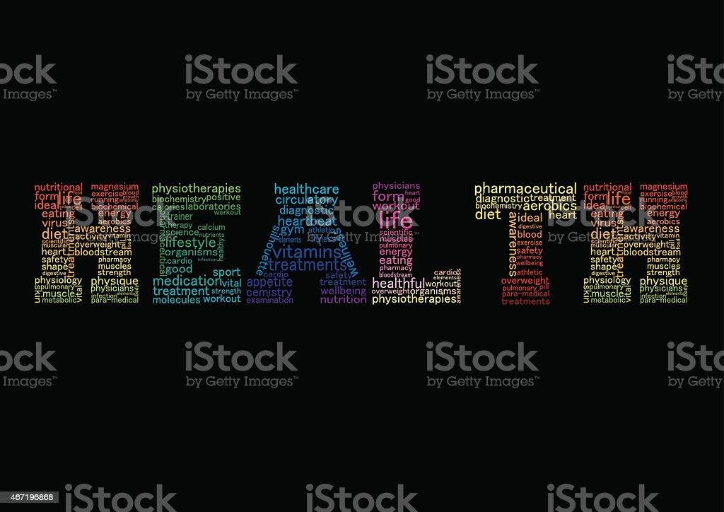 Concept health word. Vector Illustration vector art illustration