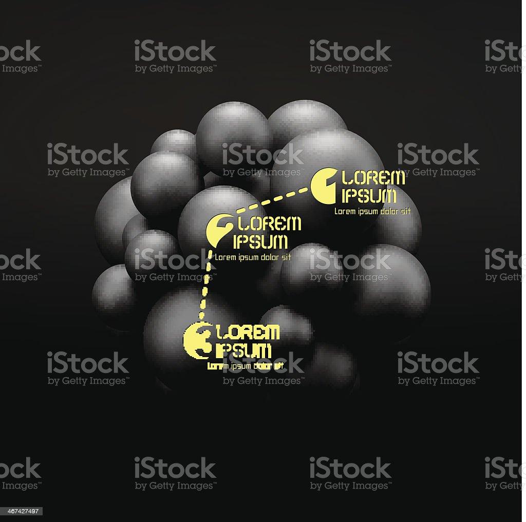 3D concept illustration. Vector template. vector art illustration