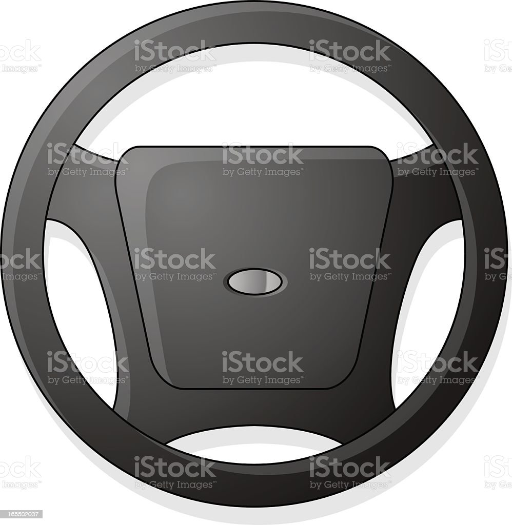 Concept image of 3D deep grey steering wheel royalty-free stock vector art