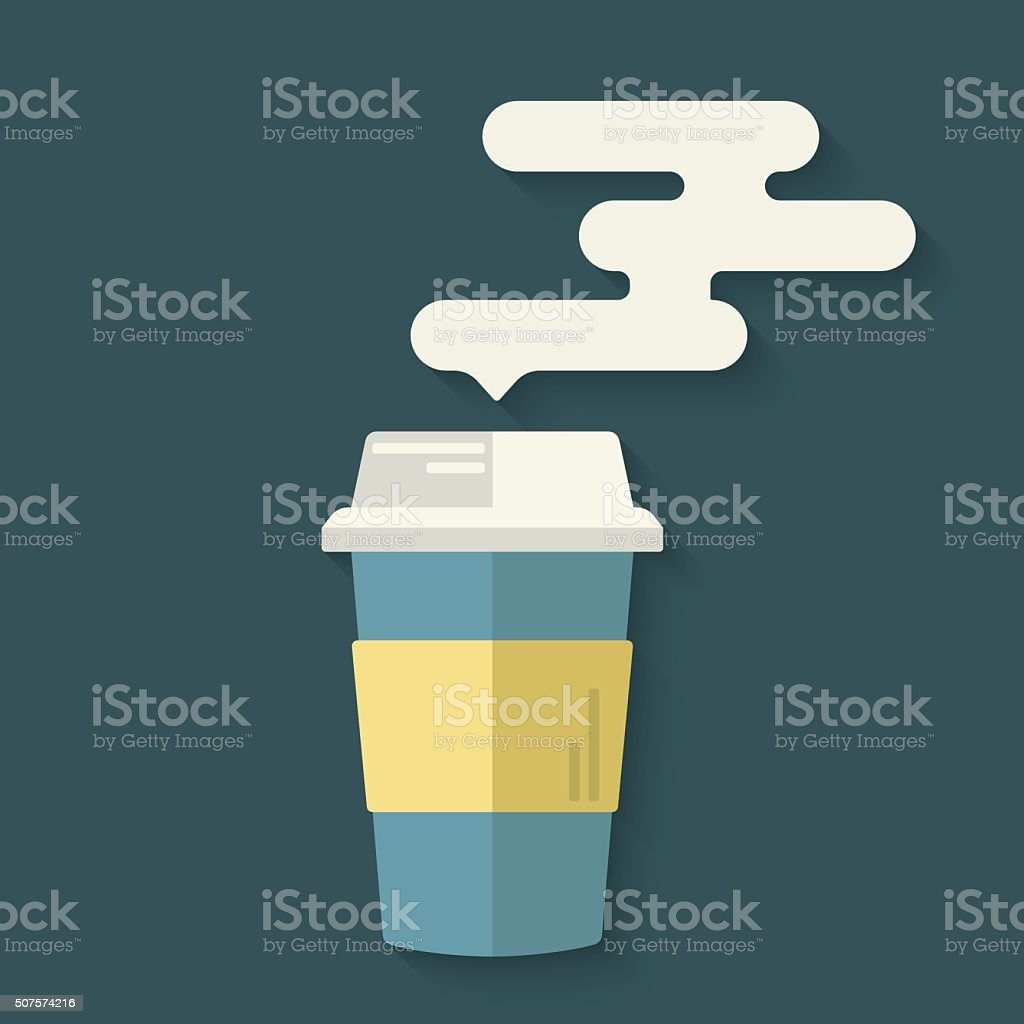 Concept logo for takeaway or coffe to go shop. vector art illustration