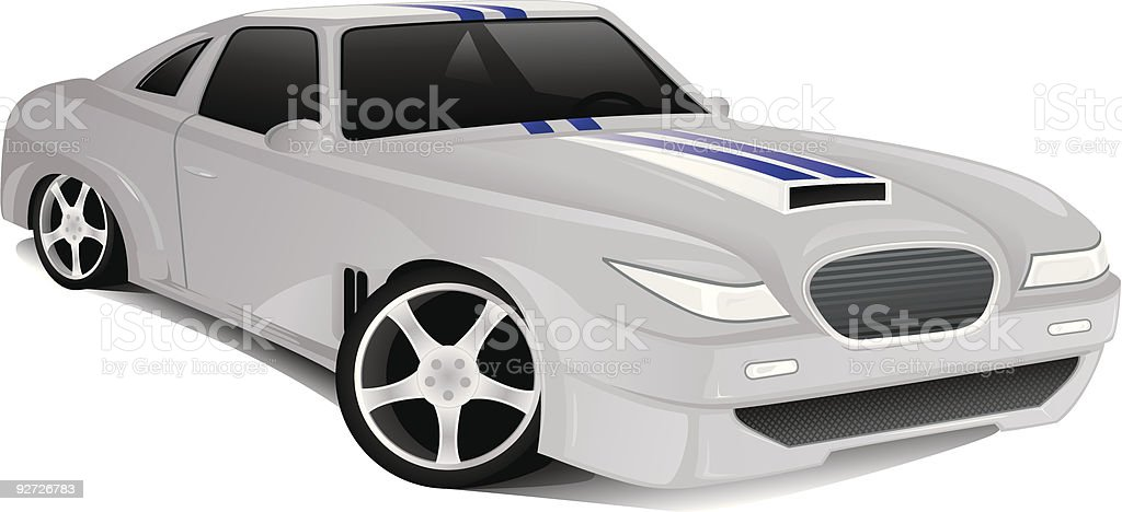 Concept muscle car vector art illustration