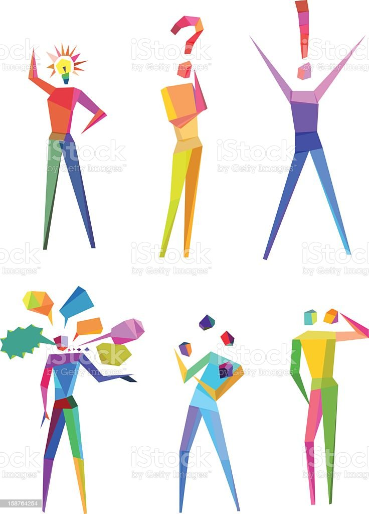 Concept of abstract polygonal people royalty-free stock vector art