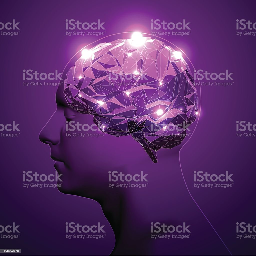 Concept of Active Human Brain vector art illustration