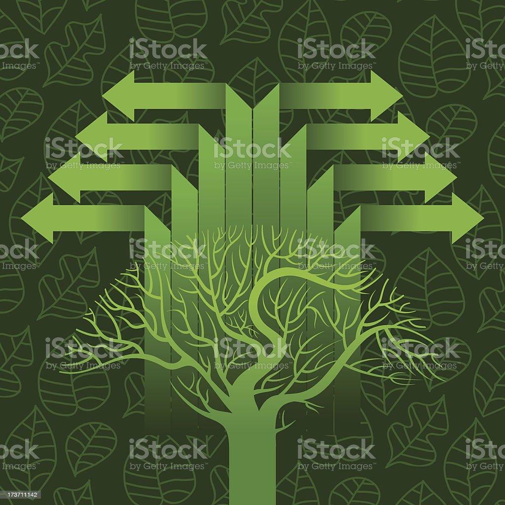 concept of an ecological theme royalty-free stock vector art