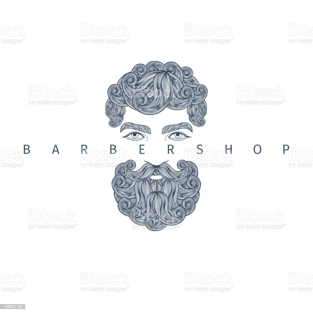 Concept of barbershop. vector art illustration