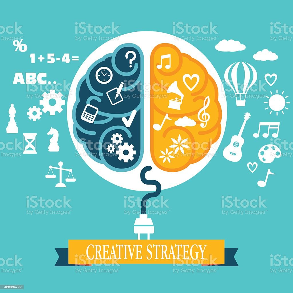 Concept of business creative strategy vector art illustration